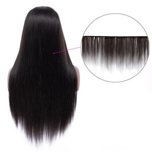 Image 5 - 13x4 רמי ישר תחרה מול שיער טבעי פאות אמיתי שיער טבעי פאה תוספות ליד לי עבור שחור מראש קטף עם תינוק שיער