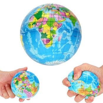Stress Relief nowe zabawki mapa świata piankowa piłka atlas globus piłeczka do zabawy planeta ziemia moda balowa zabawki prezentowe dla dzieci dzieci