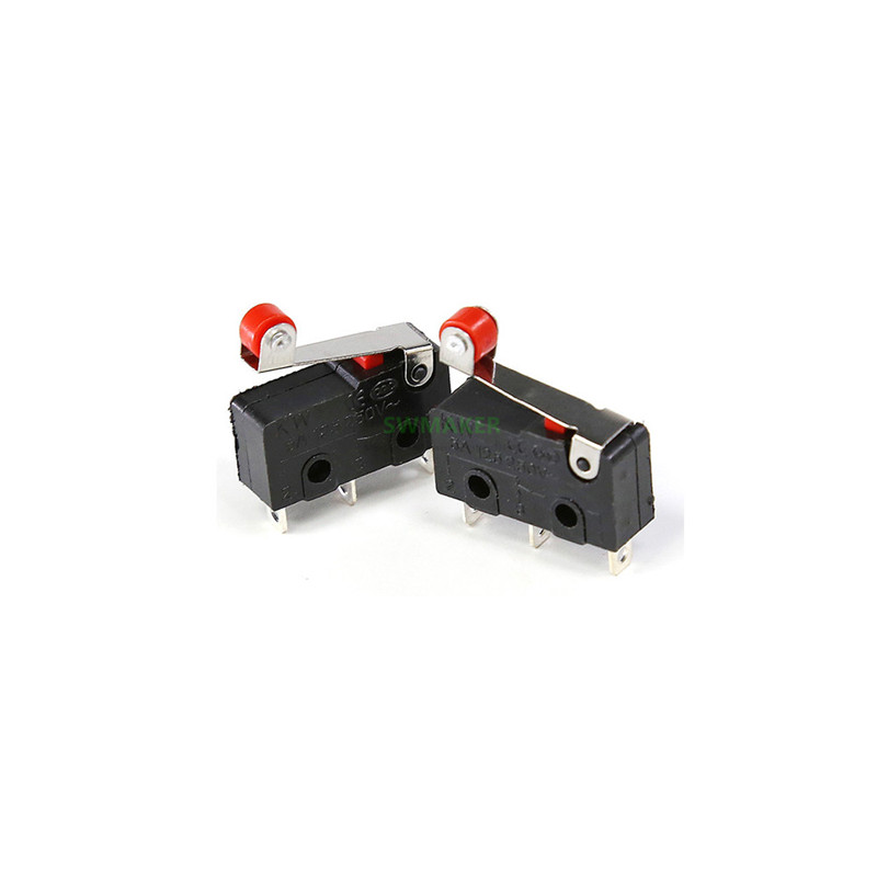 5pcs-lot Anet 3D Printer Limit Switch 3Pin Handle KW12-3 Mini Sensitive MicroSwitch With Pulley