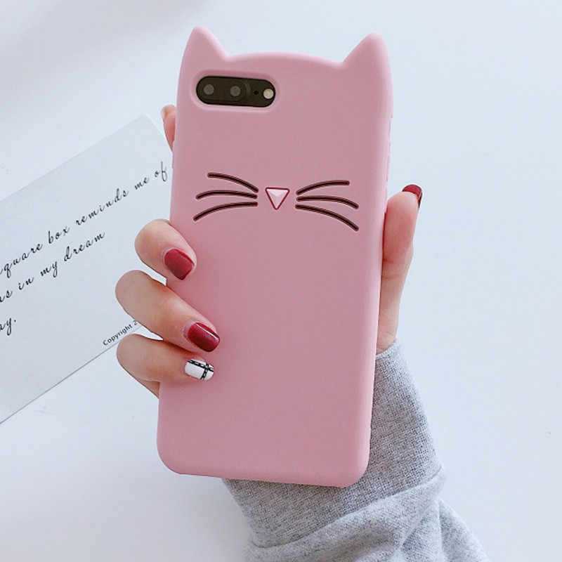 3D Cartoon Katze Silikon Fall Für Huawei Mate 10 20 Lite 9 8 7 P30 Pro Honor 10 9 8 lite 8X 7X 6X 5X Nova 3 3i 3e 2 Plus 2s 2i