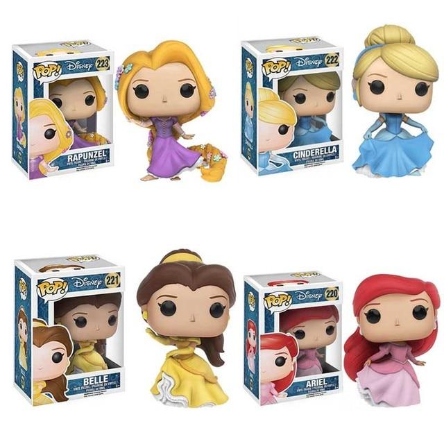 Funko POP Disney Princess Belle Tangled Ariel Cinderella Tiana Action Figure Toys Vinyl Dolls for Kids Birthday Gifts 1