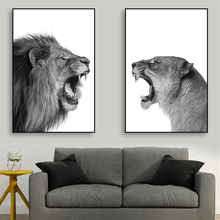 Abstract Canvas Animal Posters And Prints Lion Deer Paintings For Living Room Wall Art Decorative Pictures Black White Decor