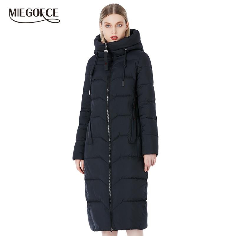 MIEGOFCE 2019 hiver femmes Collection élégant et à la mode Bio peluches Collection manteau Long chaud de Bio vente de peluches