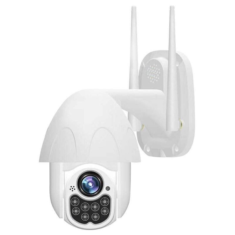 Caméra IP sans fil étanche à la poussière D08 2MP 1080P étanche 360 rotatif Audio bidirectionnel PTZ sécurité CCTV Support suivi automatique
