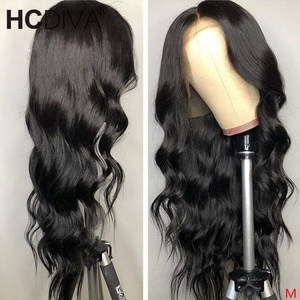 Image 3 - Middle Part 28inch Human Hair Wigs For Women 13*1 Lace Part Wig Glueless 150% Brazilian Body Wave Human Hair Lace Wig Remy Hair