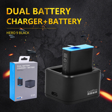 GoPro HERO9 Black Dual Battery Charger + Spare Battery ADDBD-001 for HERO 9 Black Official Go Pro Accessory cheap CN(Origin) Action Camera Accessories Kits