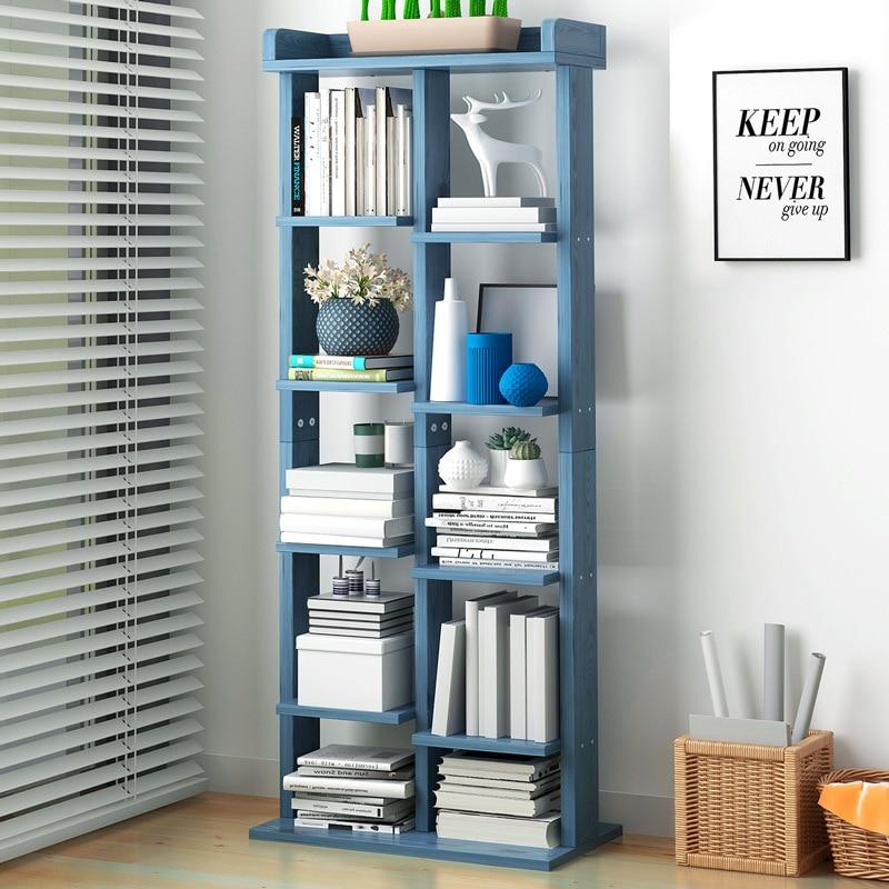 Simple Bookcase Modern Minimalist Floor Storage Shelf Multi-functional Household Creative Cabinet Province Space Wholesale