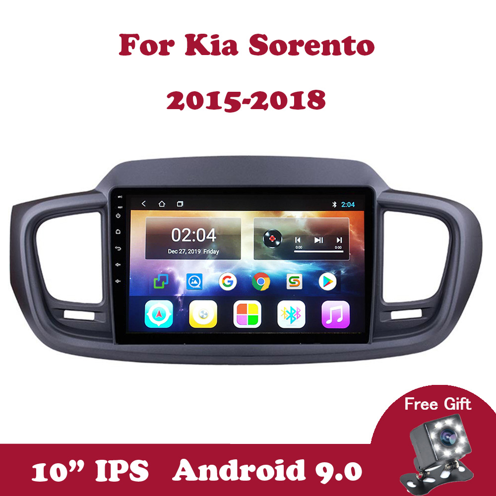 Android 9 Car Radio Stereo Multimedia Player For Kia Sorento 2015 2016 2017 2018 Support Wifi FM RDS DSP SWC Navigation GPS DVD image