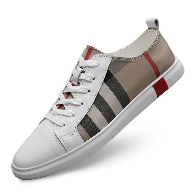 MR CO-zapatos de Skateboard transpirables para hombre, zapatillas deportivas de alta calidad, informales, de cuero genuino 6