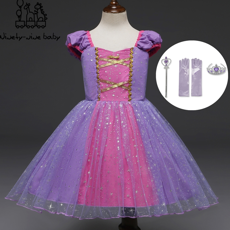 Infant <font><b>Baby</b></font> Girls Rapunzel Sofia Princess Costume Halloween Cosplay Clothes Toddler Party Role-play <font><b>Fancy</b></font> <font><b>Dresses</b></font> For Girls image