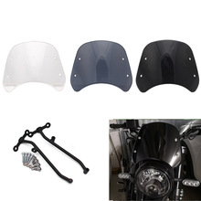1pcs Motorcycle Front Windshield Windscreen Wind Deflector For Benelli Leoncino 500