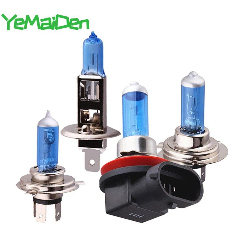 1x Car Halogen Headlight Fog Bulb H1 H4 H7 H8 H11 Lamps 12V 55W 5000K Suer Bright White Motorcycle/auto Halogen Light