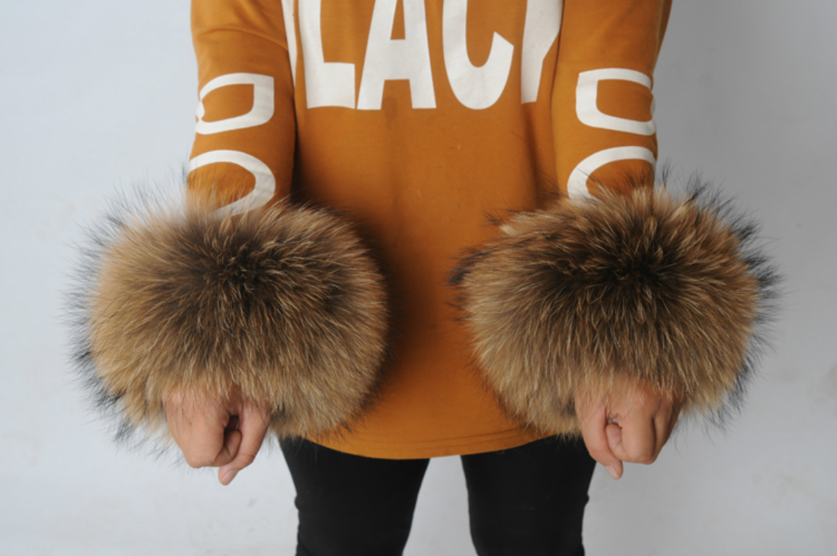 REAL Raccoon Fur Cuff Fox Fur Cuff Fur Cuff Fur Sleeve Fur Sleeve Pat I Circle Hair  Boots