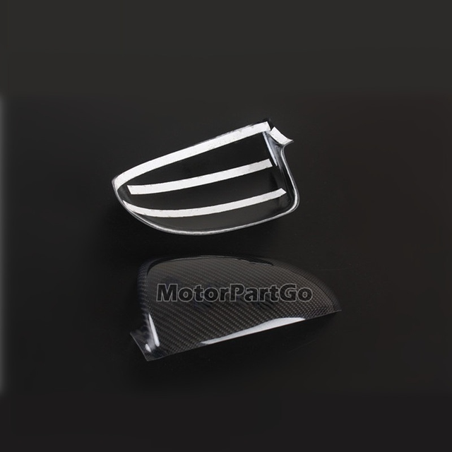 Real Crabon Fiber Mirror Cover 1 pair for Smart fortwo W451 2009-2013 5