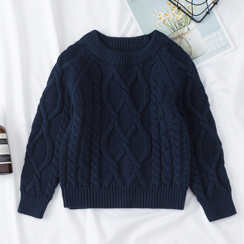 Autumn Baby Boys Girls Sweaters Kids Sweaters Winter Boys Knit Sweater Girls Pullover Sweater 1-7 Yrs Boys Girls Winter Clothes 2
