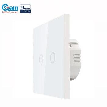 NEO COOLCAM المنزل الذكي Z-موجة زائد جدار مفتاح الإضاءة 2CH عصابة أتمتة المنزل Z موجة اللاسلكية الذكية التحكم عن بعد مفتاح الإضاءة