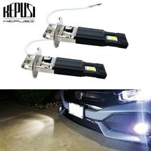 2 pçs h3 lâmpada led luzes de nevoeiro led h3 carro luzes condução lâmpada drl branco 600 k 12 v 24 v auto led h3 lâmpada