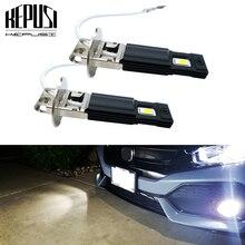 2pcs H3 Led הנורה led ערפל אורות Led H3 רכב אורות הנהיגה מנורת DRL לבן 600K 12V 24V אוטומטי Led H3 הנורה