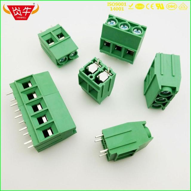KF136T 10,16 2P 3P PCB conector UNIVERSAL bloques de terminales de tornillo DG136T 10,16mm 2PIN 3PIN MKDSP 10HV 1929517 PHOENIX póngase en contacto con
