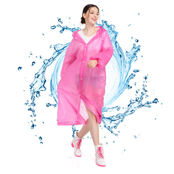 Portable Women Raincoat Men Rain Clothes Cover Hooded Poncho  Rainwear Adult Clear Rain Jacket Camping Must Rain Coat Unisex