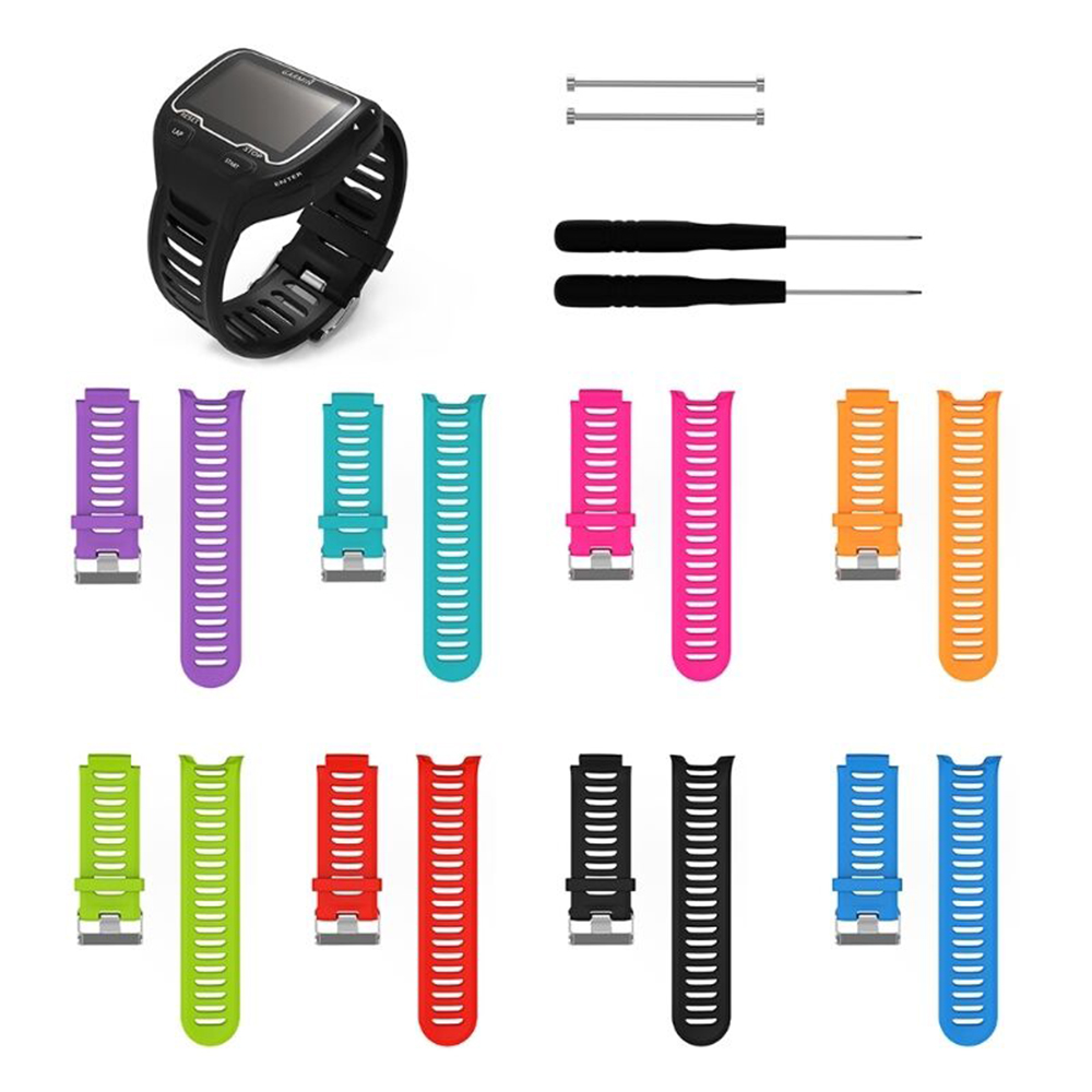New <font><b>Strap</b></font> For <font><b>Garmin</b></font> <font><b>910XT</b></font> SmartWatch For <font><b>910XT</b></font> Soft Silicone Sport Replacement Band Bracelet Steel Stainless Buckle Wristband image