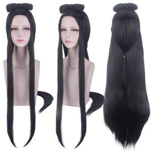 Image 5 - Mo Dao Zu Shi Anime Jiang Yanli Cosplay Pruik Grootmeester Van Demonische Teelt Halloween Cosplay Synthetisch Haar