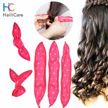 10 Pcs Lot Hair Curlers Soft Sleep Pillow Hair Rollers Set Best Flexible Foam and Sponge Magic Hair Care DIY Hair Styling Tools cheap Hailicare 21cm Foam Rollers Polyester 10PCS ALL Hair Type Hair Rollers 10596 Hair Curling Hair Tools
