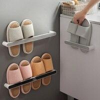 Kunststoff Wand Befestigte Self-adhesive Handtuch Halter Küche Badezimmer Tür Hängen Schuh Racks Topf Deckel Lagerung Regal Veranstalter