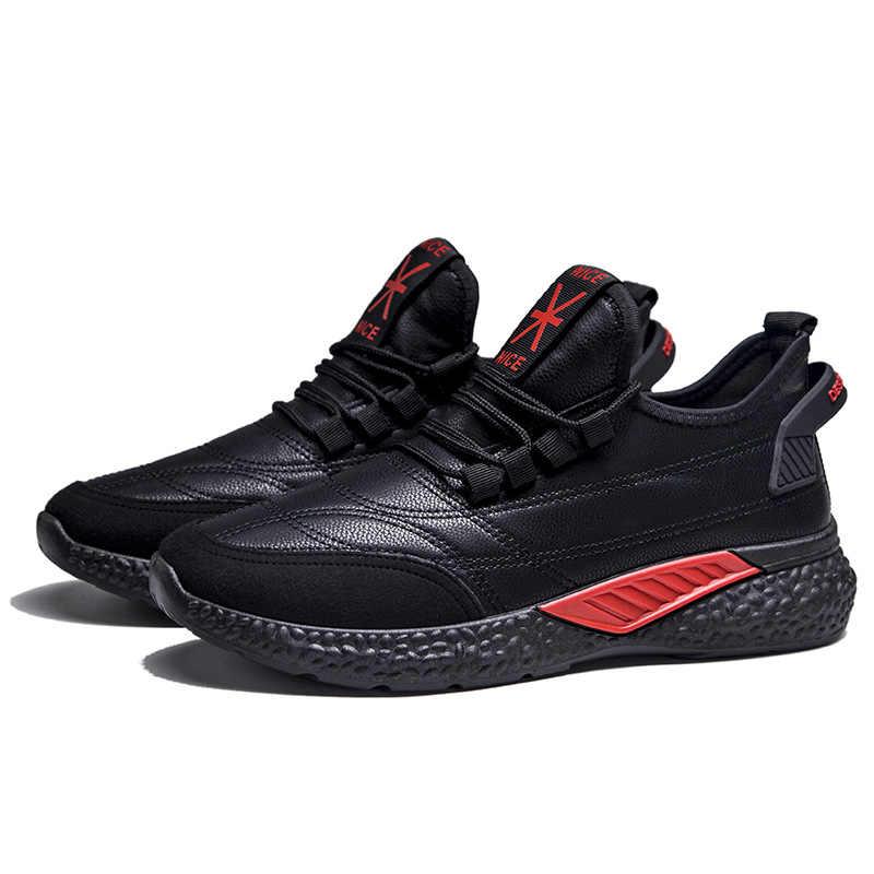 LINGGE erkek kış ayakkabı erkek ayakkabısı ile kürk peluş sıcak erkek rahat spor ayakkabılar eğlence deri ayakkabı kış için