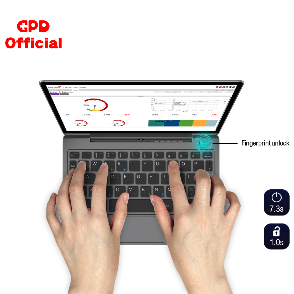 GPD P2 Max Mini Laptop Ultrabook Computer Slim PC Netbook 16GB + 512GB 8.9 Inch IPS Touch Screen Intel Core M3-8100Y Windows 10