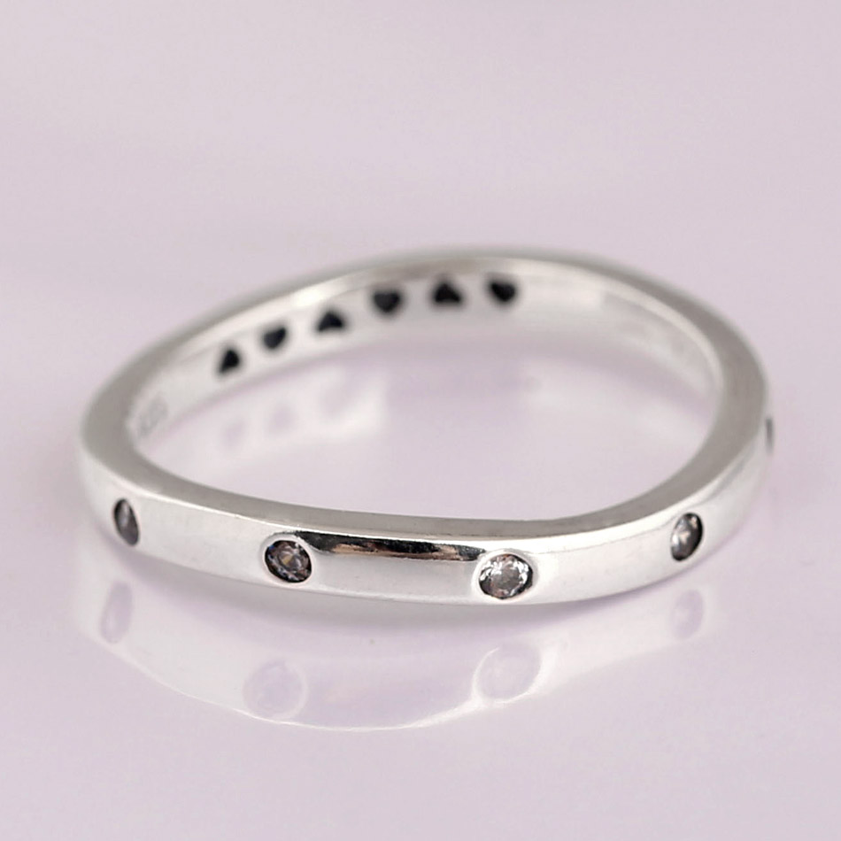 Original SWIRLING DROPLETS with crystal Rings For Women 925 Sterling Silver Ring Wedding Party Gift Fine Diy Jewelry
