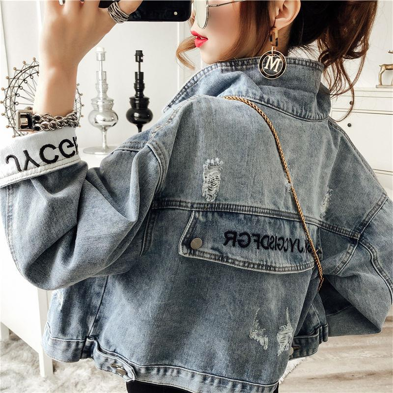 Autumn 2019 New Denim Jacket Short Women's Work Clothes Korean Loose BF Retro Port Fashion Top Student
