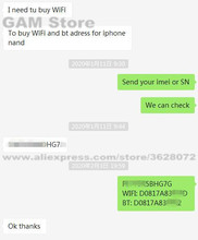 Dla iphonea/ipada sprawdzanie adresu Wifi adres BT za pośrednictwem numeru seryjnego imei. Numer rozwiązany błąd 9 błąd 4013