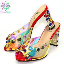 2019 New Red Color Italian Shoes With Matching Bags African Women High Heels Shoes and Bags Set For Prom Party Summer Sandal cheap Venus Chan Super High (8cm-up) Slingbacks Spike Heels Butterfly-knot Round Toe CR181-1 ELEGANT Slip-On 0-3cm Fits true to size take your normal size