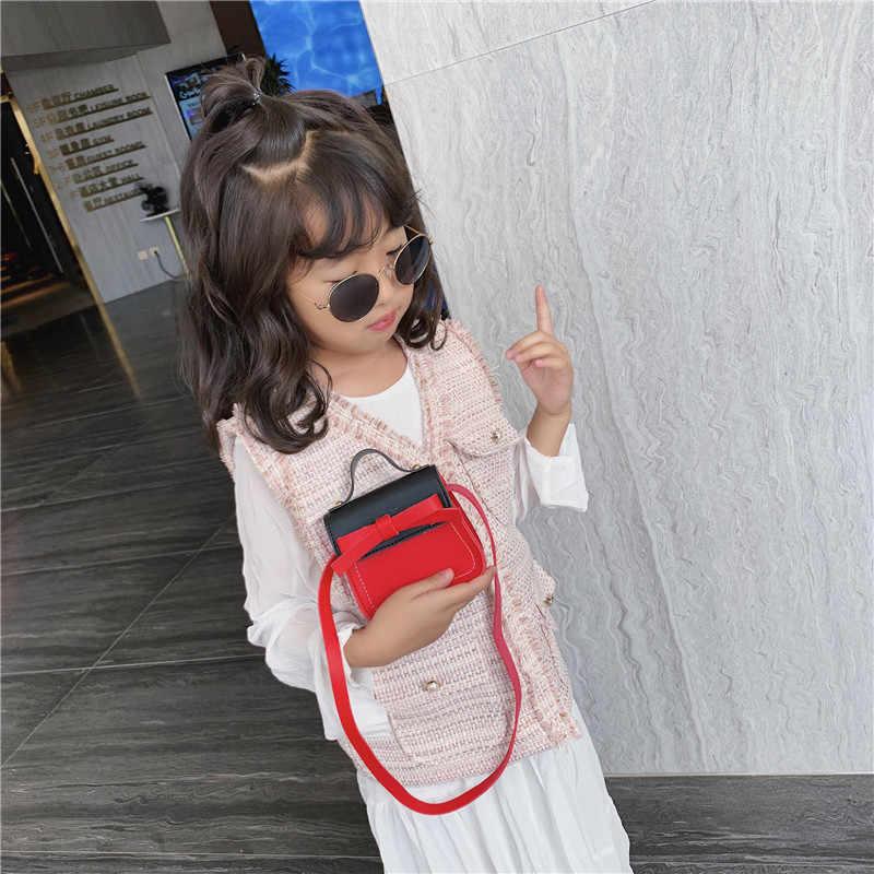 2020 petite fille Mini sacs à main et sacs à main bébé petit zéro portefeuille sac boîte mignon Bow enfant argent porte-carte changement sac à main pochette