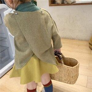 Image 3 - Baby Girl High Waist Wool Skirt Children Umbrella Skirt Pure Color Kids All Match Skirt KidsGirls Clothing
