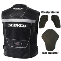 BRAND SCOYCO Reflective Safety Clothing Motorcycle Reflecting Racing protective Vest Moto Security Motorbike With Led Light
