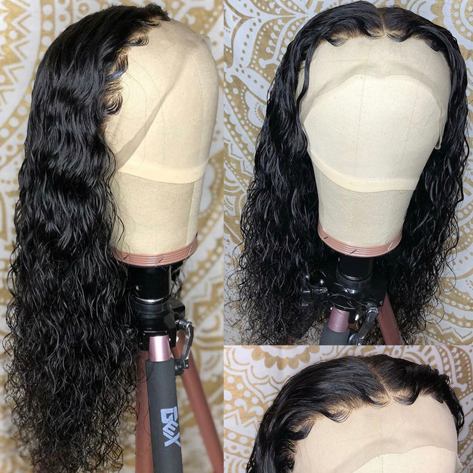 high density curly lace  front wig-5
