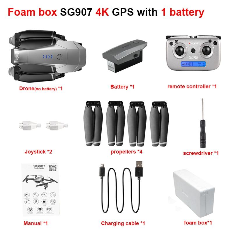 FEMA GPS SG907 Drone professional quadcopter with Camera HD 4K 1080P 5G WiFi FPV RC copter Foldable pro Drones VS E520S