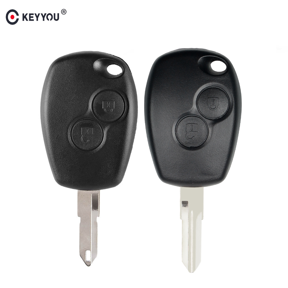 KEYYOU 2BTN Remote Car Key Shell Case For Renault Megane Modus Espace Laguna Duster Logan Clio Twingo DACIA 3 For NISSAN ALMERA