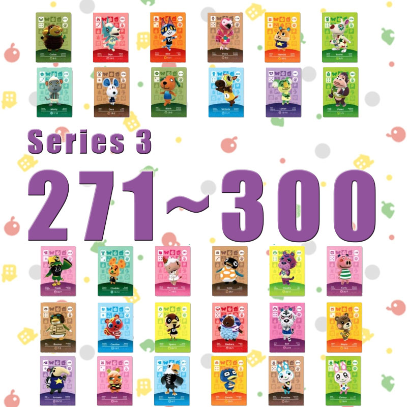 Amiibo Animal Crossing New Horizons Amiibo Card Set Work For NS Switch Games Series 3 (271 to 300) image