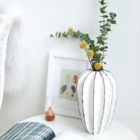 Creative Home Decoration TV Cabinet Ceramic Crafts Ornaments Dried Flower Vase Jingdezhen Ceramic Vase