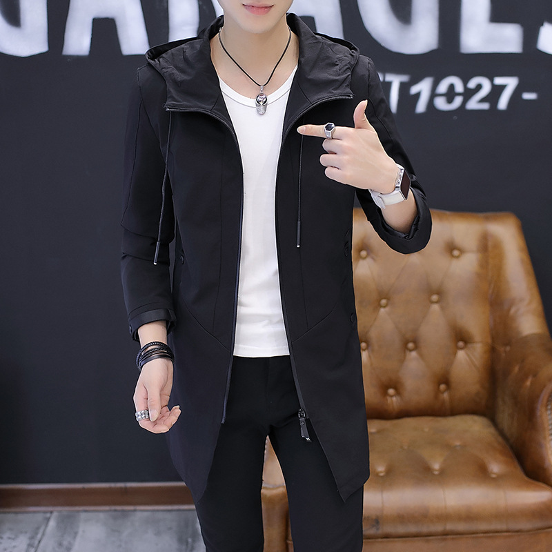 Men Jackets Jackets and Coats 2019 Autumn Coat Men's Casual Jacket Mid-length Top Middle-aged Business Handsome Wild Jacket