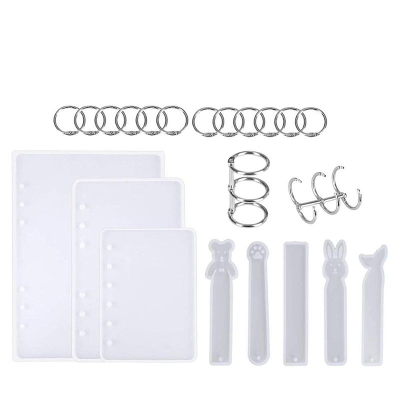 22pcs Resin Casting Molds For Notebook Cover Silicone Resin Mold For Jewelry DIY