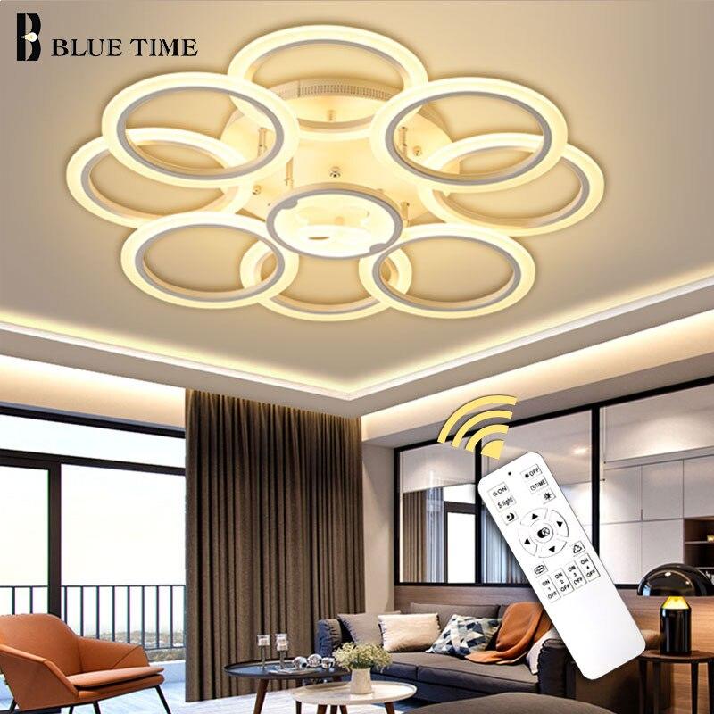 Luminaires plafond moderne à LEDs lumière pour la maison salon chambre salle à manger Led Cricles lustre plafonniers lampara déco