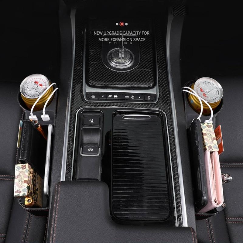 Upgrade Car Seat Gap Slit Pocket Storage Organizer Caddy Keys Phone Coins Box