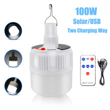 100W Solar Camping Light With USB Camping Lamp 18650 Solar USB Rechargeable LED Light Portable Lantern Outdoor Emergency Light mini outdoor solar table lamp desk light camping lantern usb rechargeable phone emergency charger