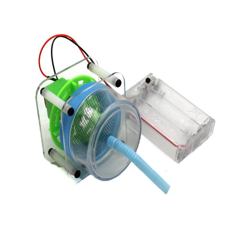 Colector de polvo eléctrico DIY para niños, Juguetes De ciencia, experimento, aspiradora, Kits creativos, proyecto escolar de Innovación Educativa