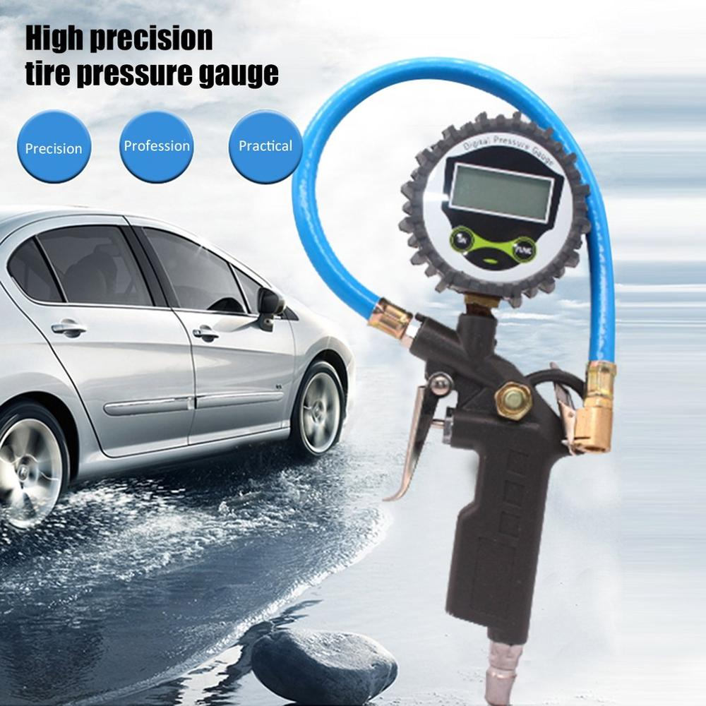 Car Tire Digital Pressure Gauge Durable Digital Display Inflatable Tool Aluminum Alloy Pressure Dial Gauge