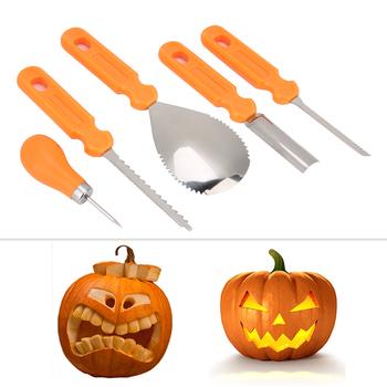 5 sztuk Halloween dynia nóż do rzeźbienia DIY dekorowanie Carver narzędzia tnące zestaw dyni rzeźba zestaw nóż do rzeźbienia tanie i dobre opinie YOUTHINK Pumpkin Carving Cutter